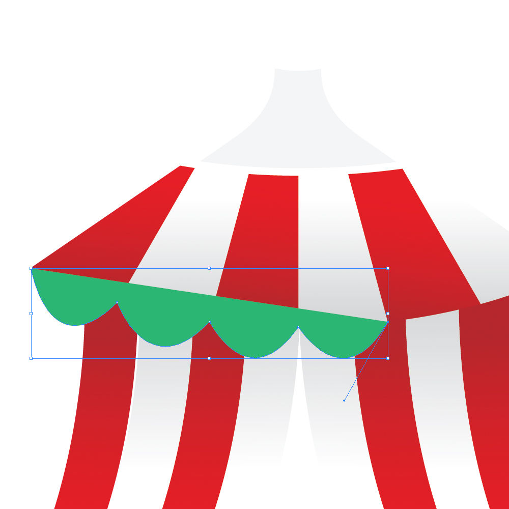 040d in How to Create a Circus Tent in Adobe Illustrator