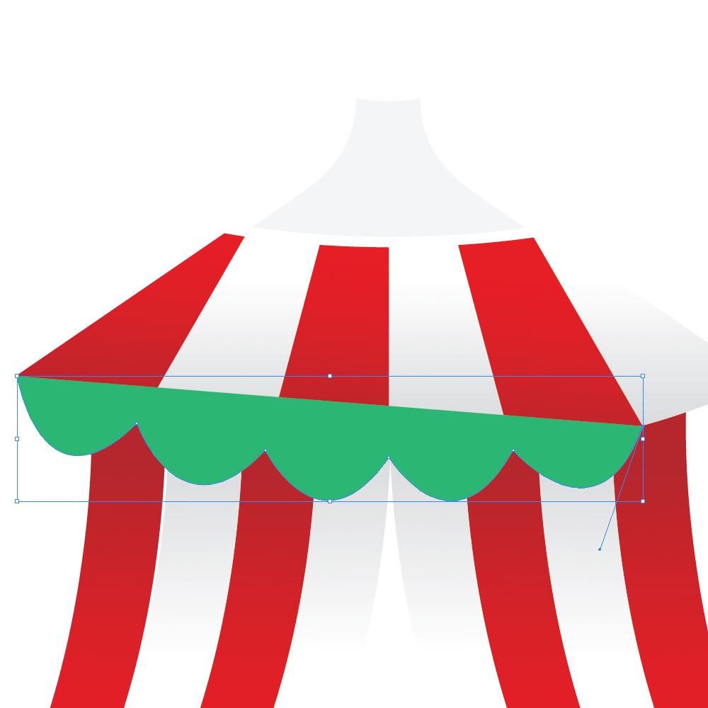 040e in How to Create a Circus Tent in Adobe Illustrator