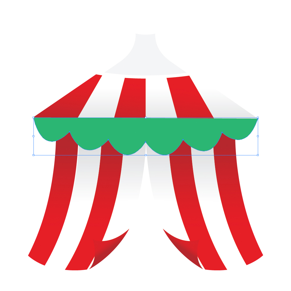 040f in How to Create a Circus Tent in Adobe Illustrator