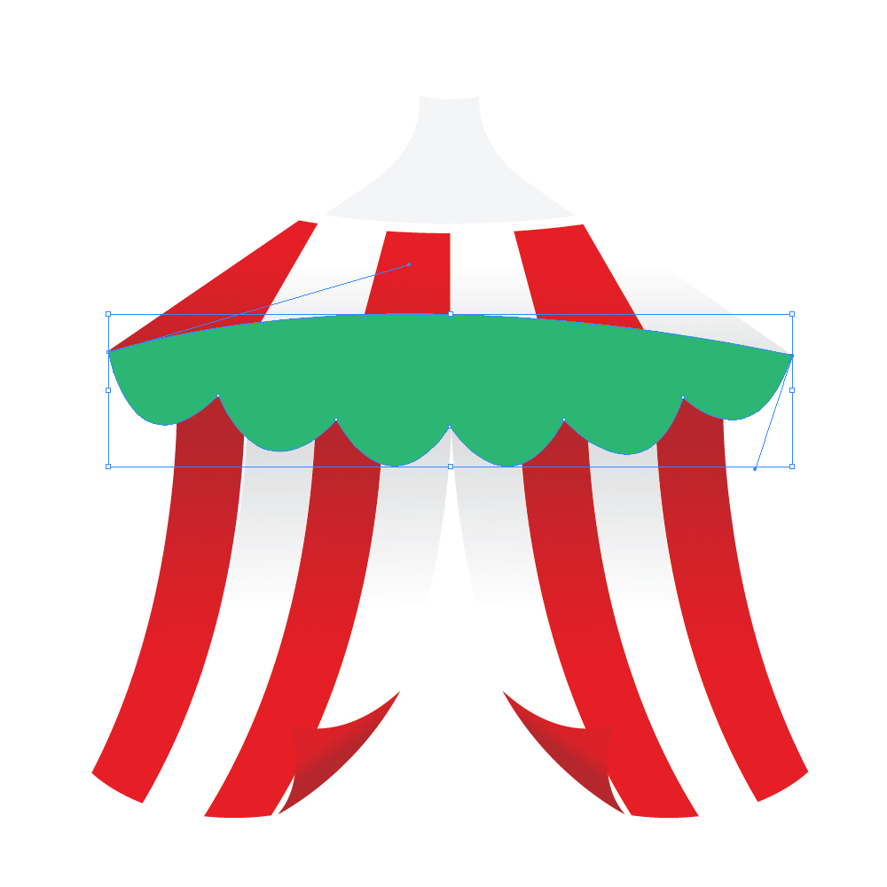 040g in How to Create a Circus Tent in Adobe Illustrator