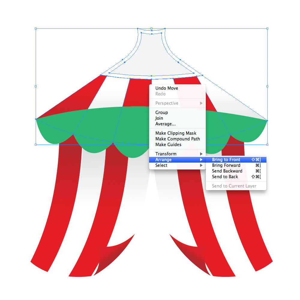 041 in How to Create a Circus Tent in Adobe Illustrator