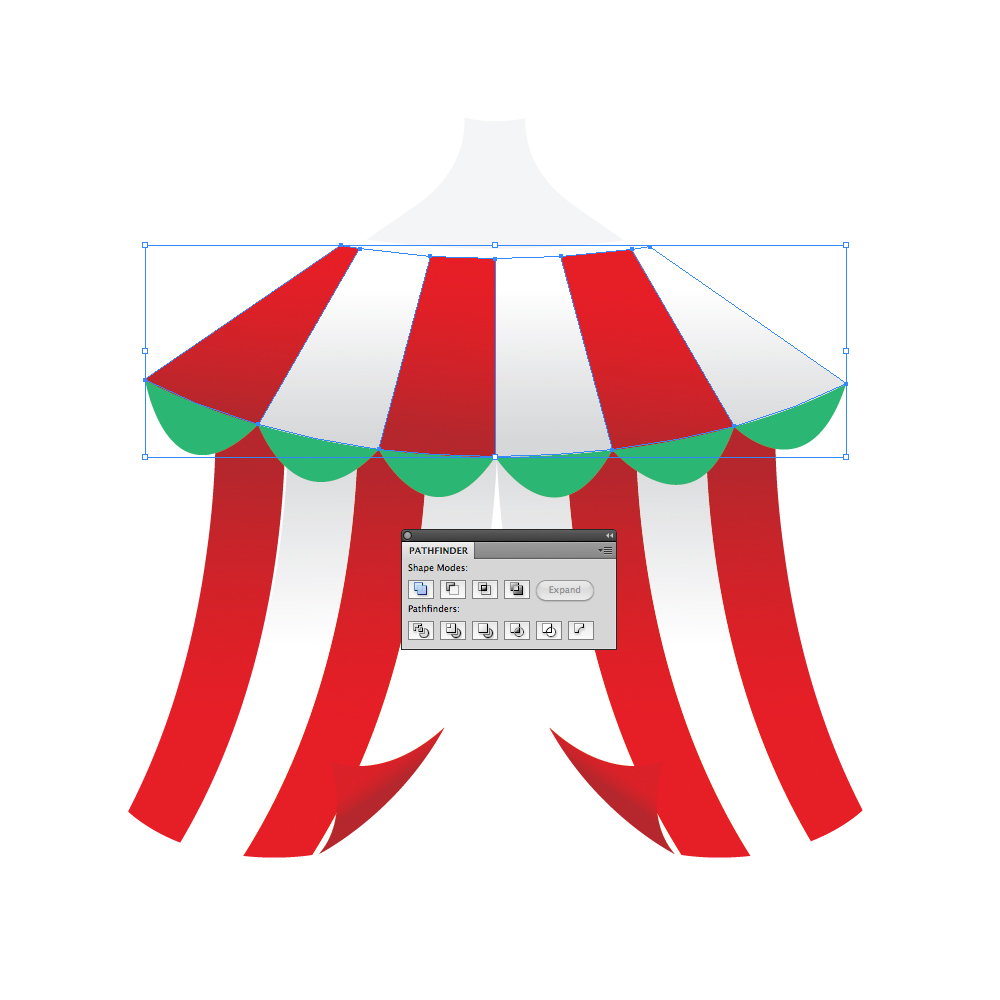 042 in How to Create a Circus Tent in Adobe Illustrator