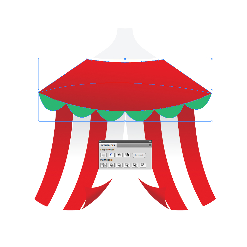 043 in How to Create a Circus Tent in Adobe Illustrator