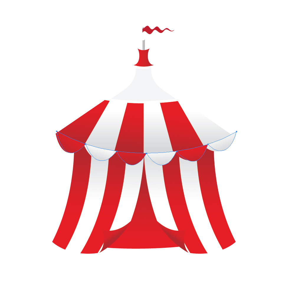 058 in How to Create a Circus Tent in Adobe Illustrator