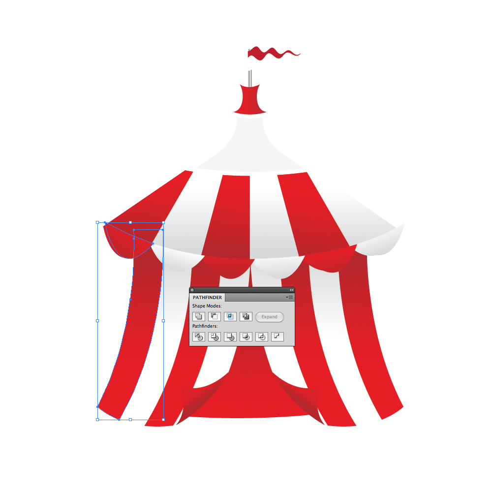 059 in How to Create a Circus Tent in Adobe Illustrator