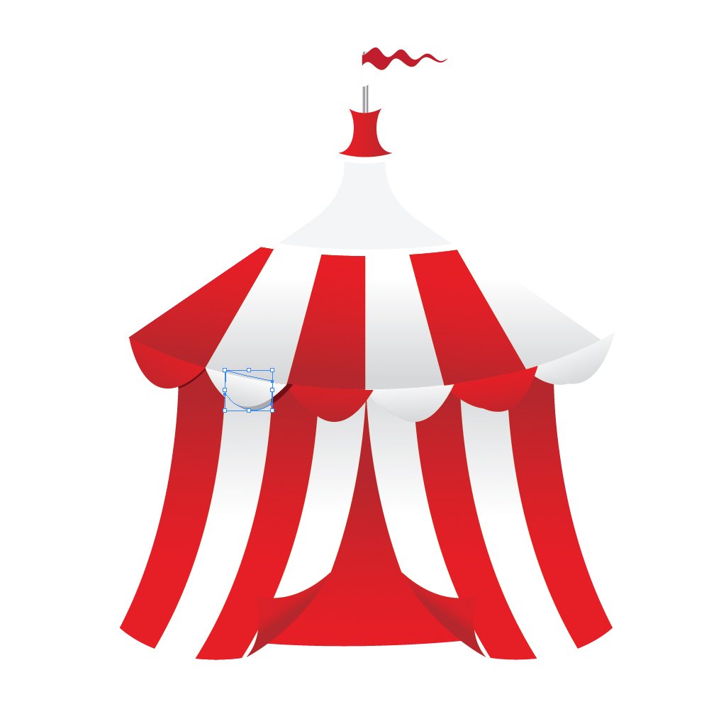 060 in How to Create a Circus Tent in Adobe Illustrator
