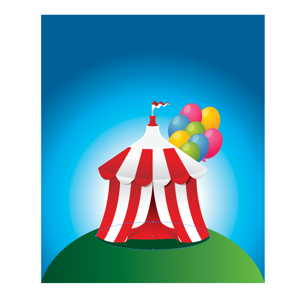 073 in How to Create a Circus Tent in Adobe Illustrator