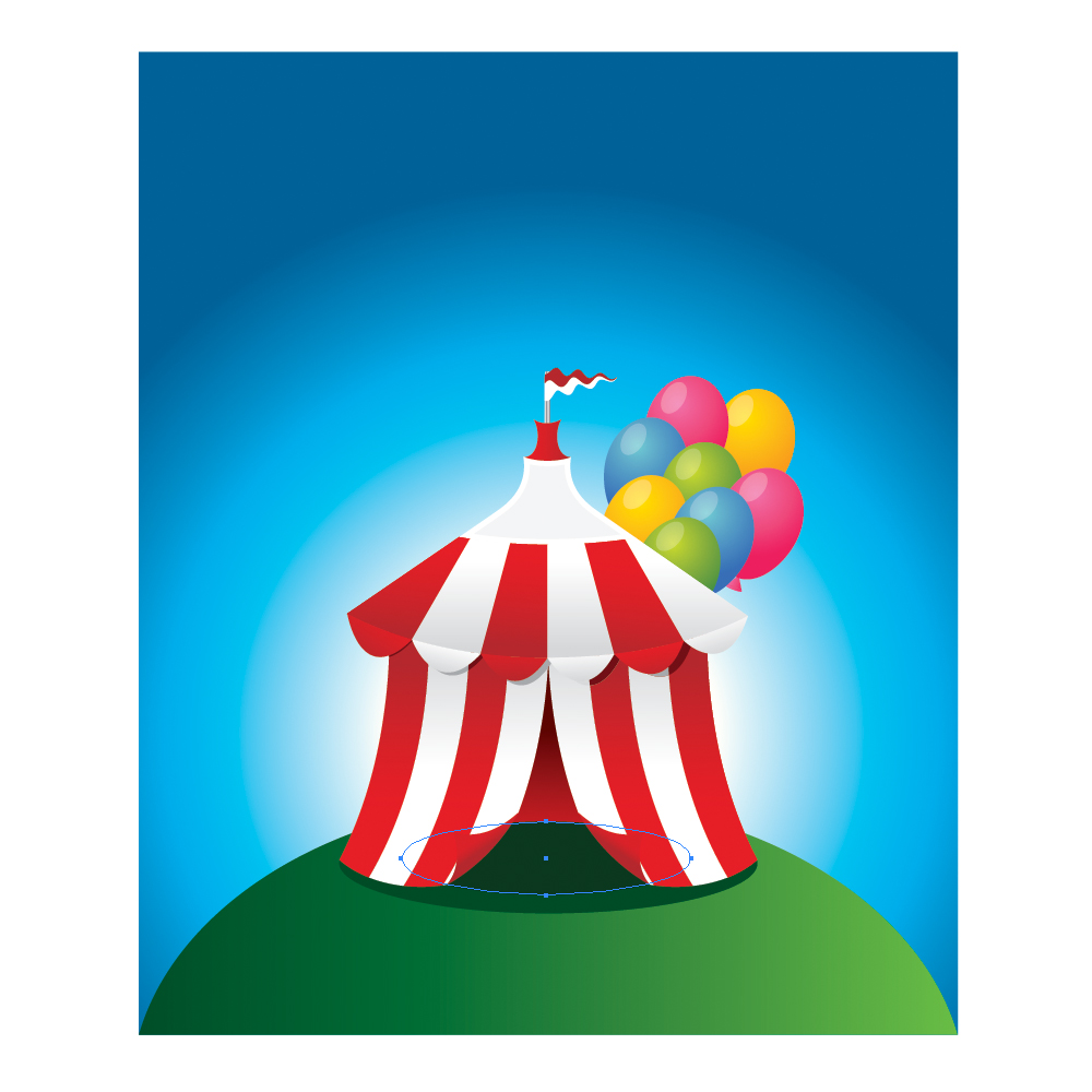 074 in How to Create a Circus Tent in Adobe Illustrator