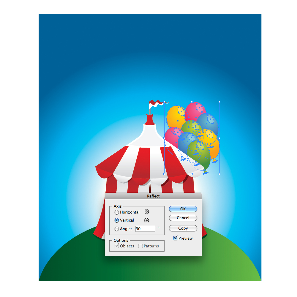 075 in How to Create a Circus Tent in Adobe Illustrator