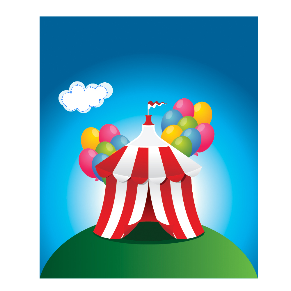 078 in How to Create a Circus Tent in Adobe Illustrator