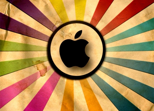 Apple in Grungy Wallpaper and Resource Goldmine
