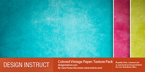 Coloredvintagepaper in A Collection of Retro & Vintage Design Resources