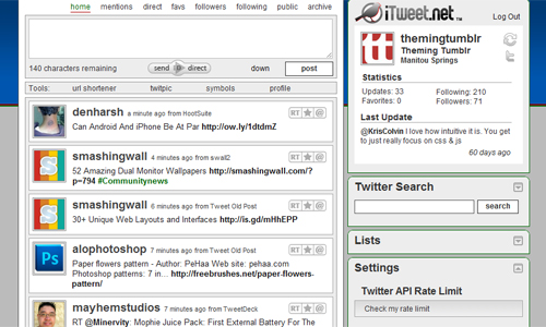 Itweet in A Roundup of Valuable Twitter Tools