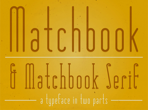 Matchbookfont in A Collection of Retro & Vintage Design Resources
