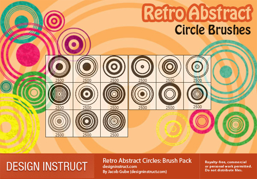 Retroabstractcircles in A Collection of Retro & Vintage Design Resources