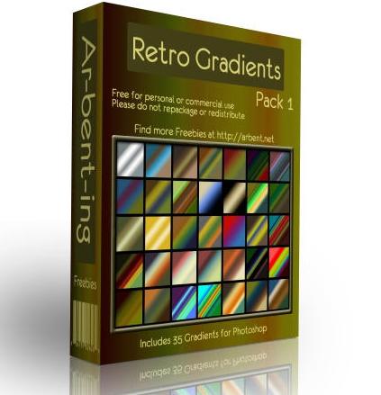 Retrogradients in A Collection of Retro & Vintage Design Resources