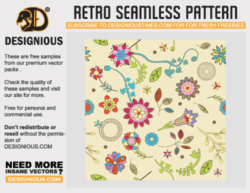 Retroseamlesspattern in A Collection of Retro & Vintage Design Resources