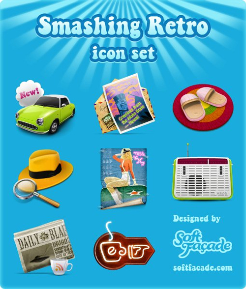 Smashingretroicons in A Collection of Retro & Vintage Design Resources