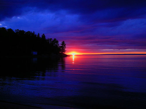 Sunset-on-goulais-bay in Sunsets and Color Palettes Inspiration