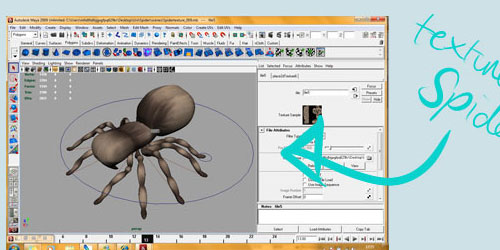 Textured-spider in 3D Modeling Tutorials to Ignite Your Creativity