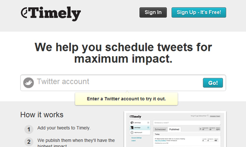 Timely in A Roundup of Valuable Twitter Tools