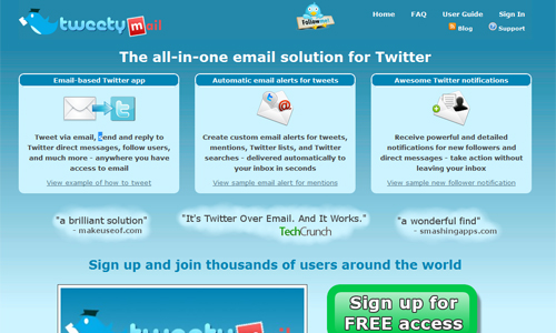 Tweetymail in A Roundup of Valuable Twitter Tools