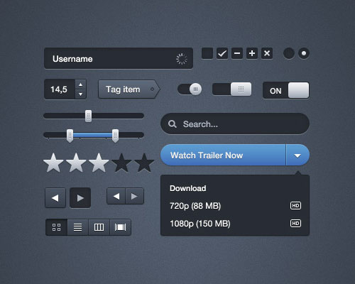 Uikit3 in 20 Free Top Shelf UI Kits for Web Designers