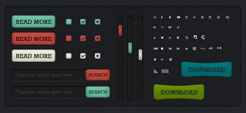 Uikit7 in 20 Free Top Shelf UI Kits for Web Designers