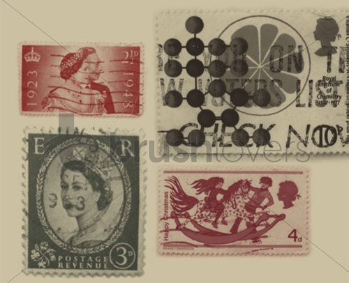 Ukstamps in A Collection of Retro & Vintage Design Resources