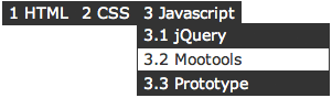 Create a multilevel Dropdown menu with CSS and improve it via jQuery