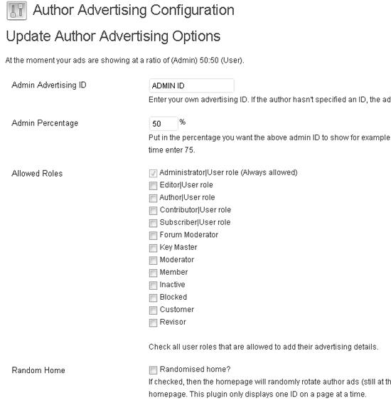 Author Advertising