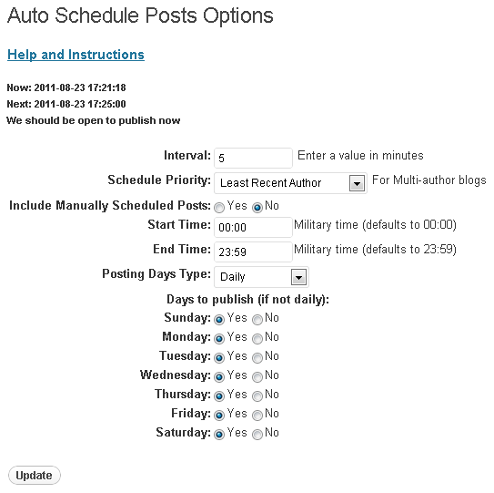 Auto Schedule Posts