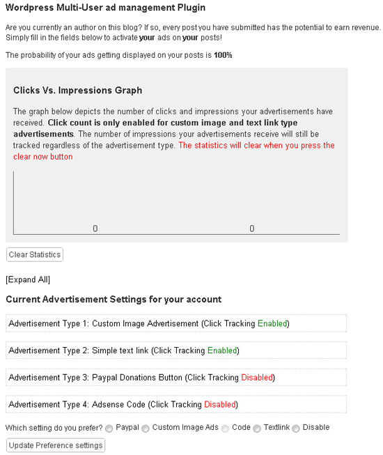 WordPress Multiple Author Ad management