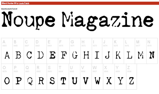 Free Fonts : A Walk on the Grunge Side