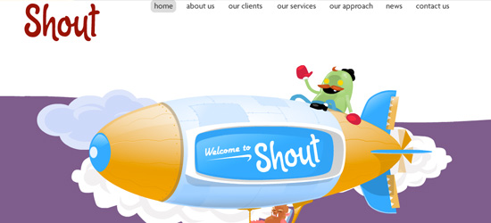 Shout Digital welcome area