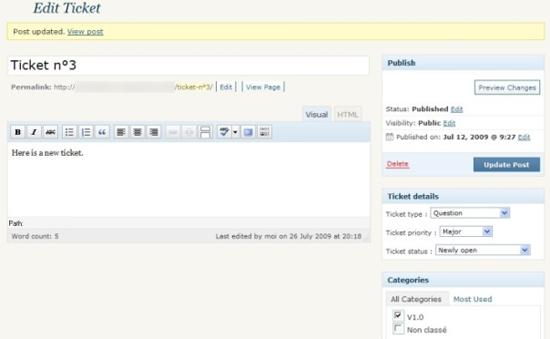 WordPress Advanced Ticket System