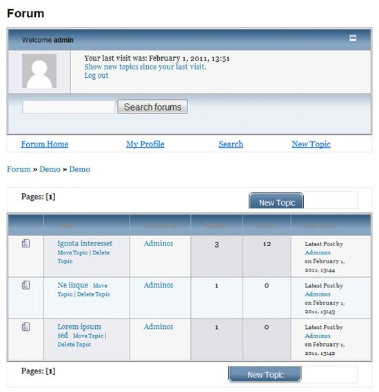 WP Forum Server