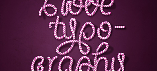 Candy Cane Typography