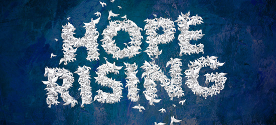 Hope Rising Typography