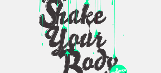 Shake Your Body Typography