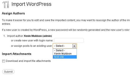 Restoring a database through WordPress