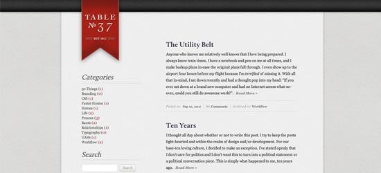 Table37 blog design