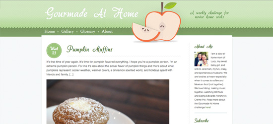 Gourmade at Home blog design