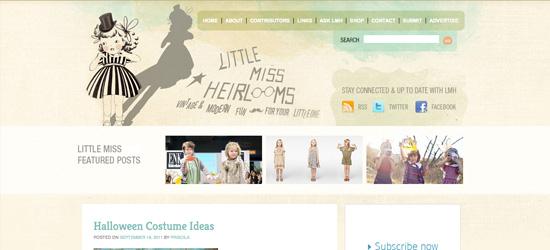 Little Miss Sheirlooms blog design