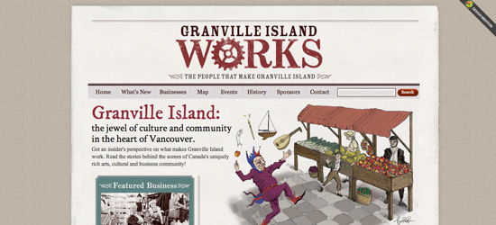 Granville Island Works blog design