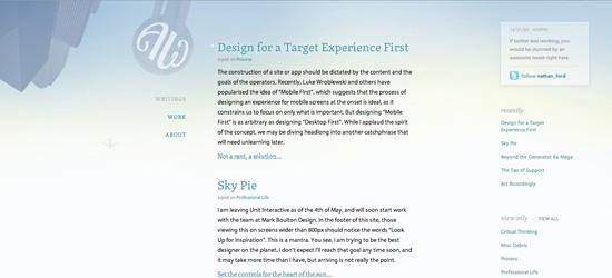 Art Equals Work blog design