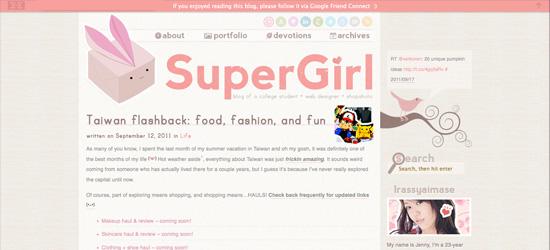 Riyuu blog design