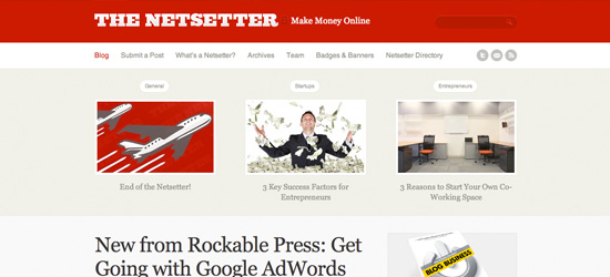 The Netsetter blog design