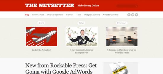 The Netsetter blog design
