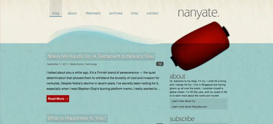 Nanyate blog design